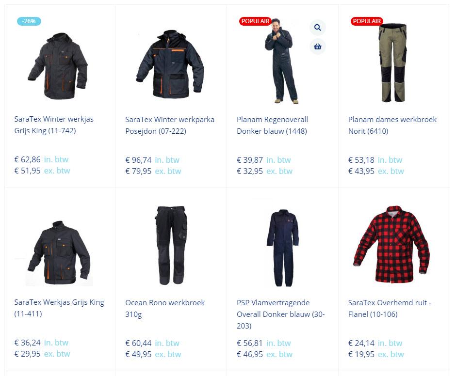Ducotex Werkkleding & bedrijfskleding